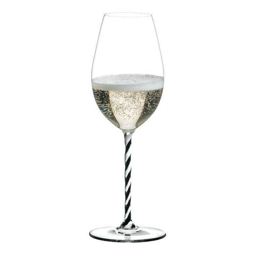 Riedel Fatto a Mano Twisted Champagne Black/White